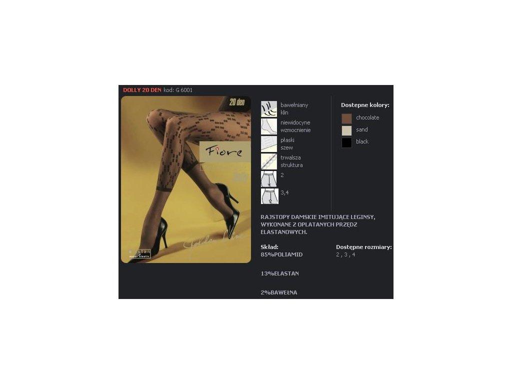 FIORE 6001 DOLLY dámské punčochy (Barva černá, Velikost oblečení M)