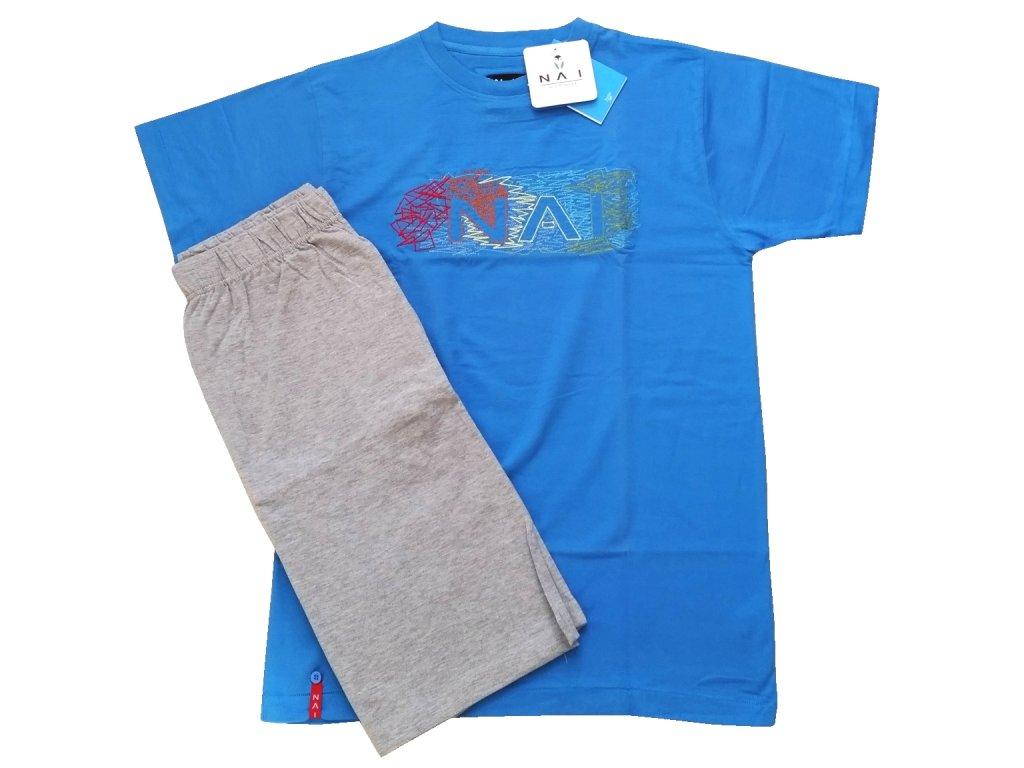 N.A.I. 10071 pánské pyžamo (Barva modrá tmavá, Velikost oblečení M)