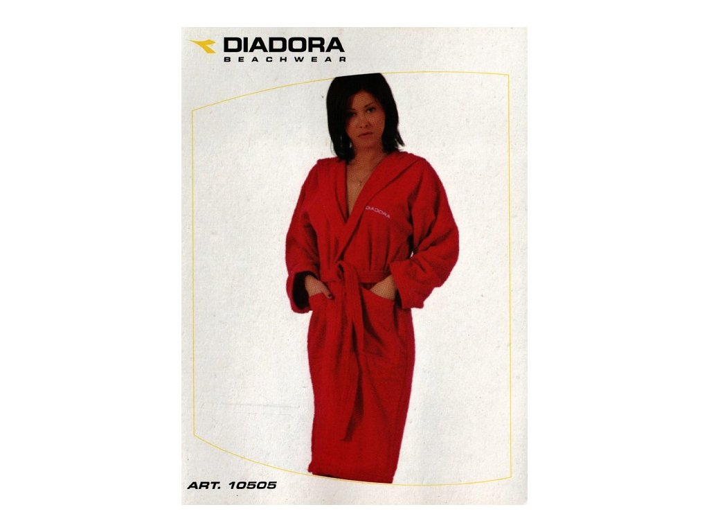 Diadora 10505 dámský župan froté (Barva bílá, Velikost oblečení XL)