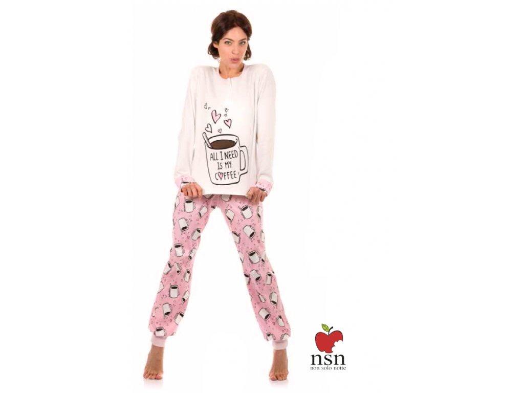 NSN 15012 dámské pyžamo (Barva růžová, Velikost oblečení S)