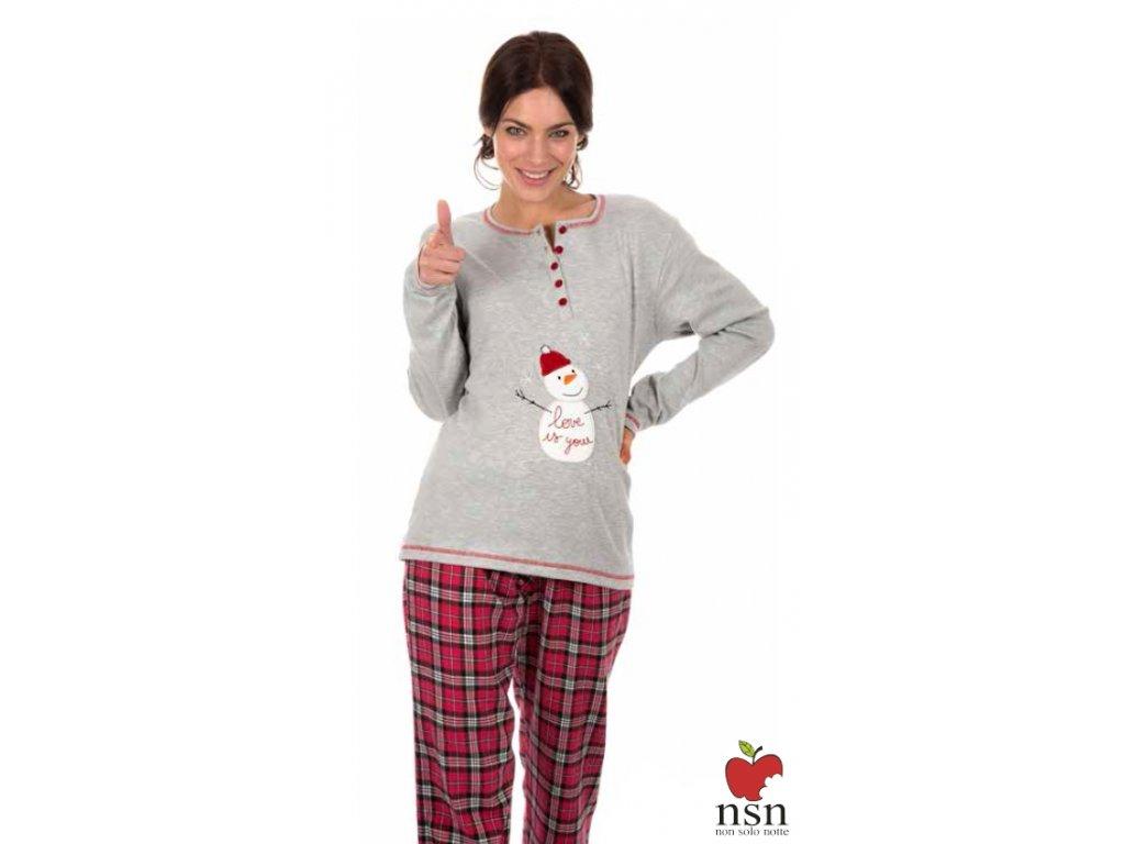 NSN 15066 dámské pyžamo (Barva červená, Velikost oblečení M)