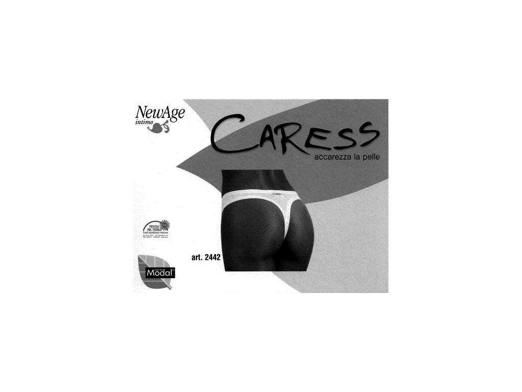 Carres 2442 tanga dámská bílá (Barva bílá, Velikost oblečení S)