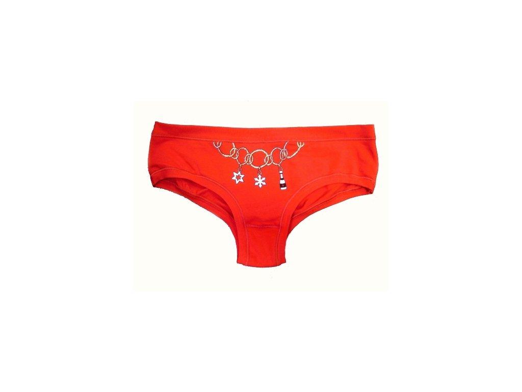 LovelyGirl 2467 dámské kalhotky (Barva červená, Velikost oblečení L)