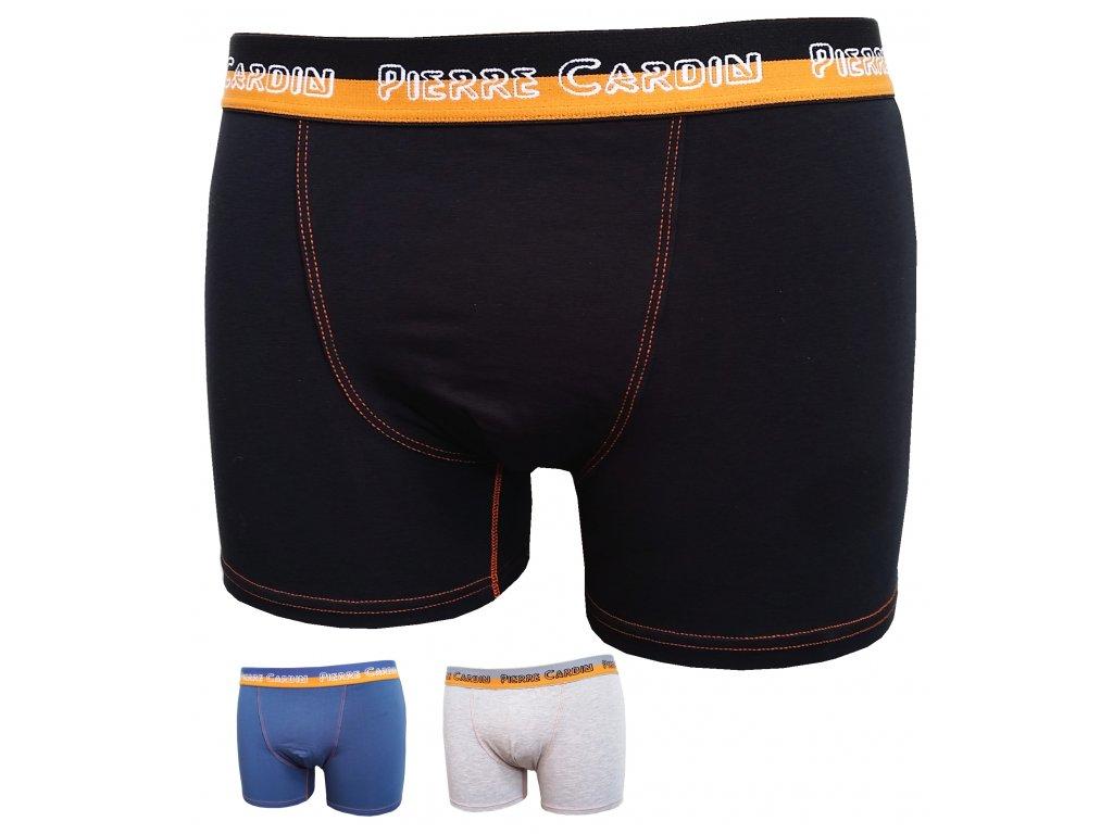 Pierre cardin 407 pánské boxerky (Barva černá, Velikost oblečení M)