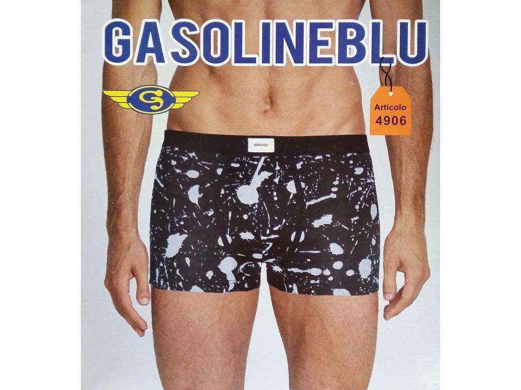 Gasoline Blu 4906 pánské boxerky (Barva modrá, Velikost oblečení M)