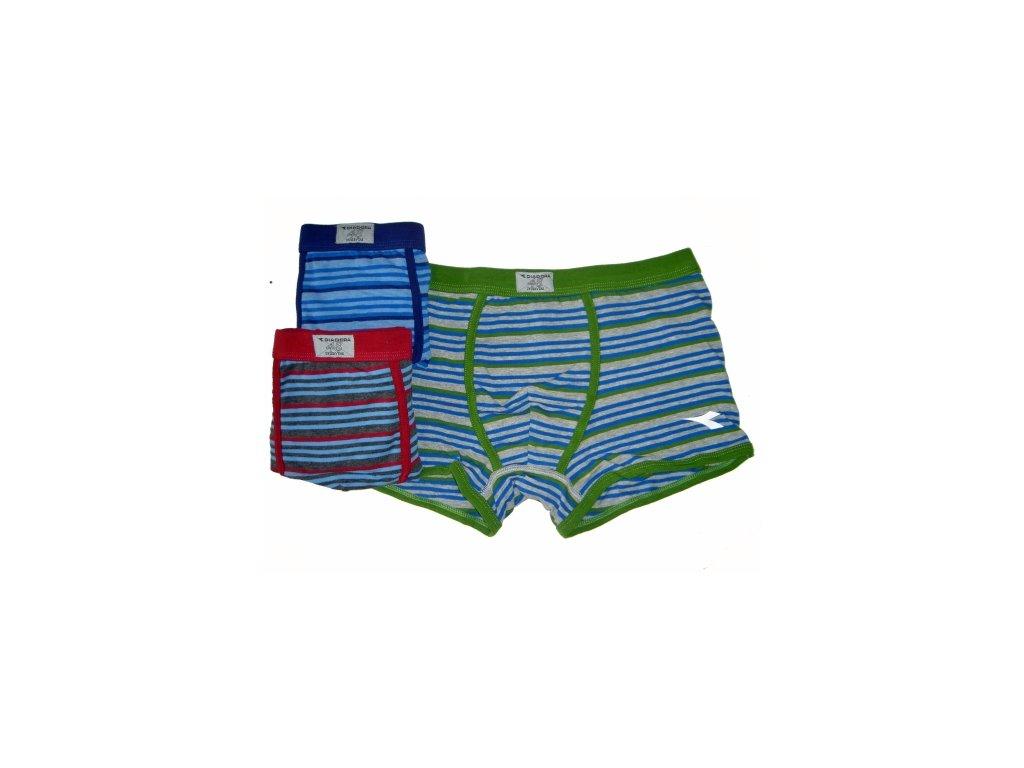 Diadora 5384 pánské boxerky (Barva zelená, Velikost oblečení XL)