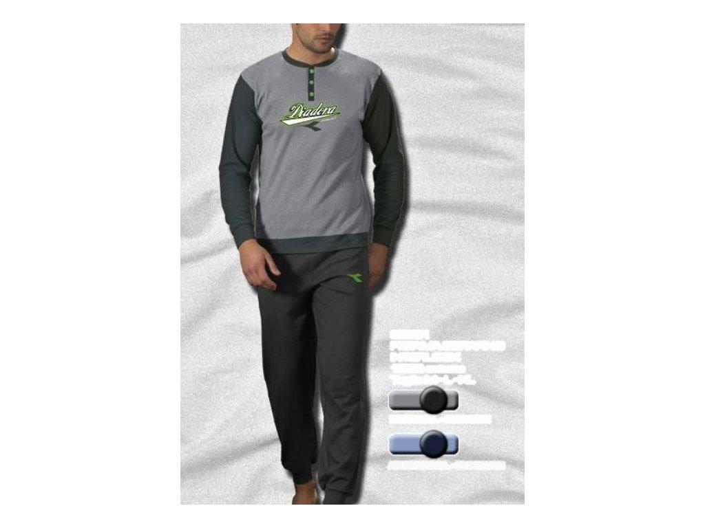 Diadora 60351 pánské pyžamo (Barva šedá, Velikost oblečení M)