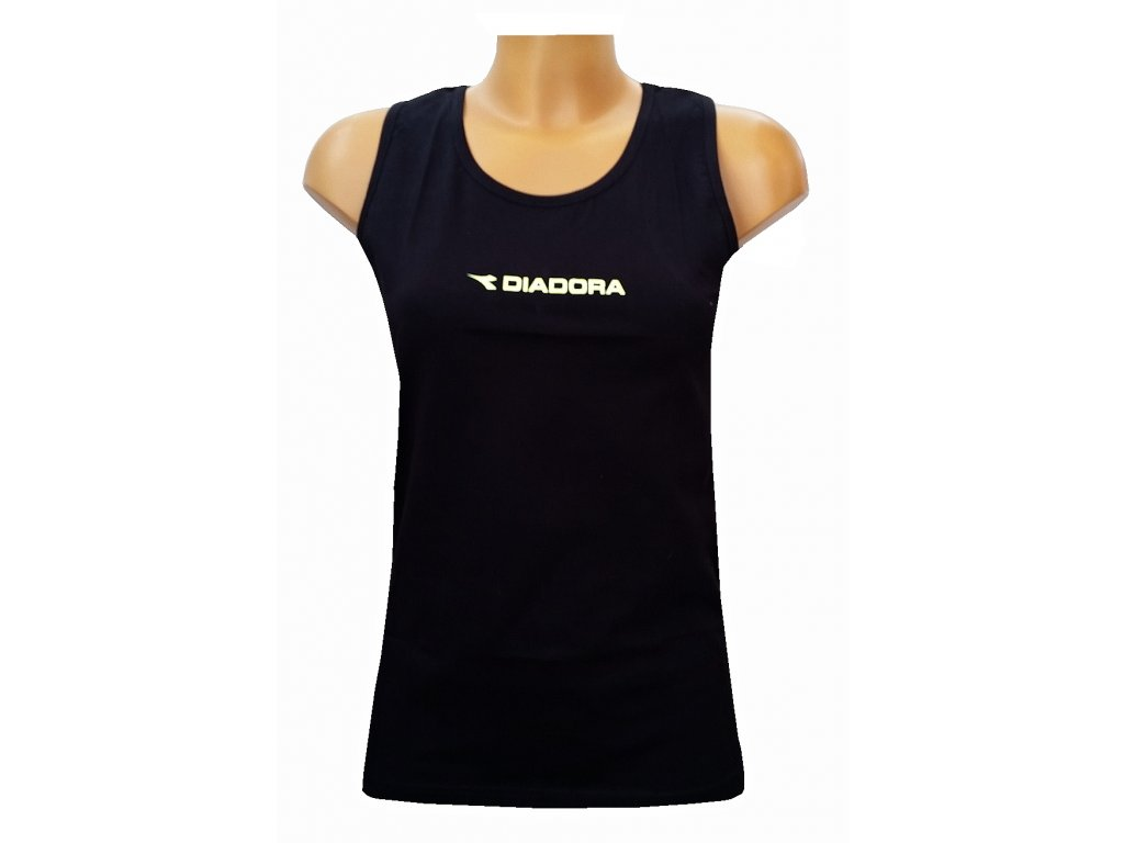 Diadora 61041 dámský nátělník (Barva černá, Velikost oblečení XL)