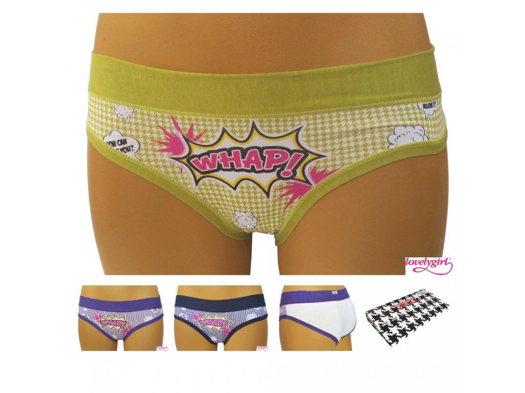Lovelygirl 612 dámské kalhotky (Barva fialová, Velikost oblečení XL)