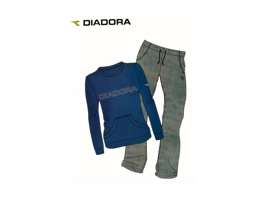 Diadora 62172 dámská tepláková souprava (Barva modrá, Velikost oblečení S)