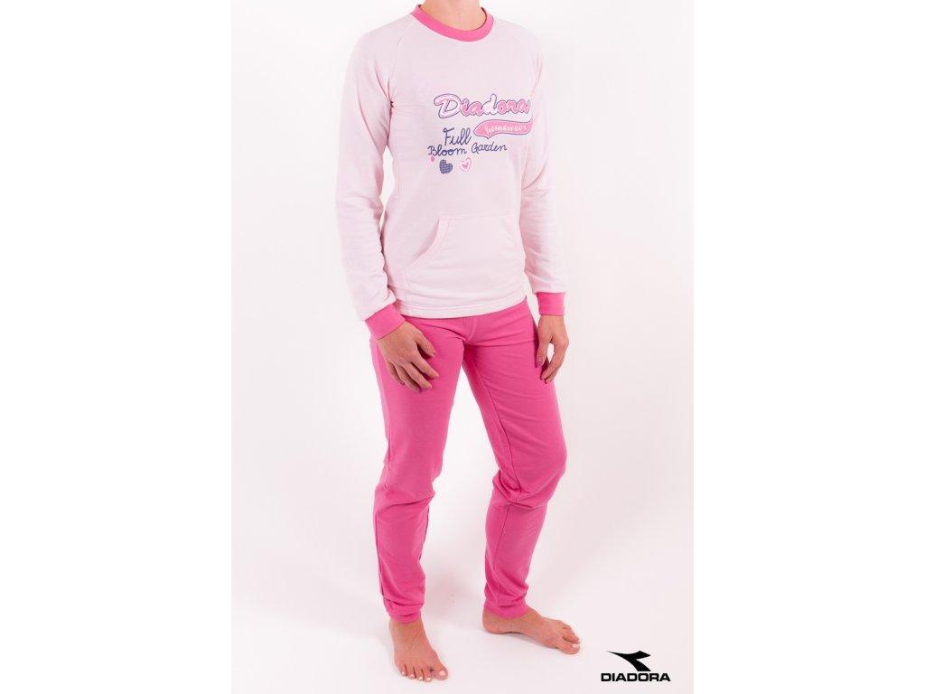 Diadora 62201 dámská souprava (Barva růžová, Velikost oblečení S)
