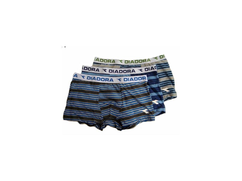 Diadora 811 chlapecké boxerky (Barva šedá melanž, Velikost oblečení 7-122)