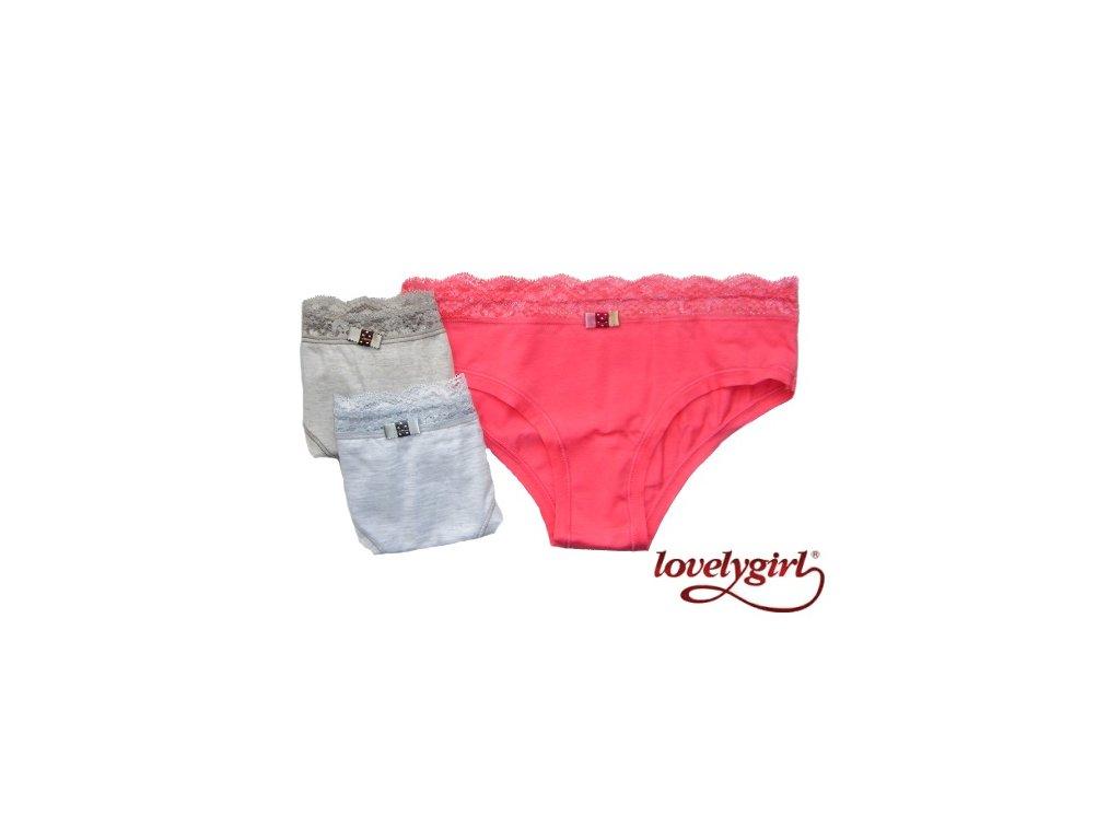 LovelyGirl 8391 dámské kalhotky (Barva šedá, Velikost oblečení S)
