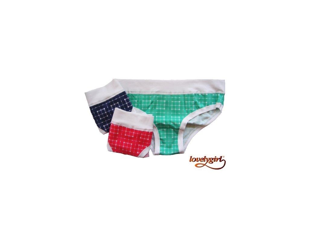 LovelyGirl kalhotky dámské 8511 (Barva zelená, Velikost oblečení XL)