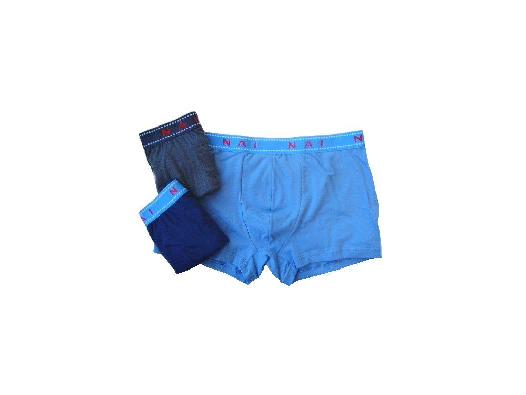 N.A.I. 8623 pánské boxerky (Barva modrá, Velikost oblečení S/M)