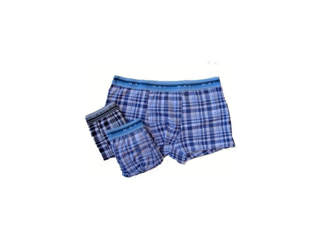 N.A.I. 8627 pánské  boxerky (Barva černá, Velikost oblečení S/M)