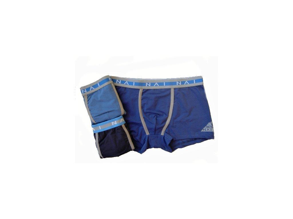 N.A.I. 8633 pánské boxerky (Barva modrá, Velikost oblečení S/M)