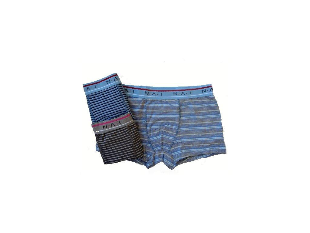 N.A.I. 8639 pánské boxerky (Barva šedá, Velikost oblečení S/M)