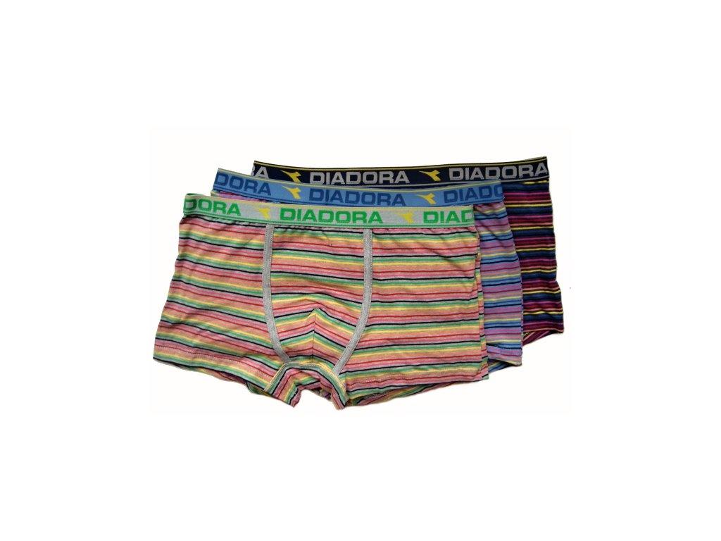 Diadora 872 chlapecké boxerky (Barva šedá melanž, Velikost oblečení 9/10-134/140)