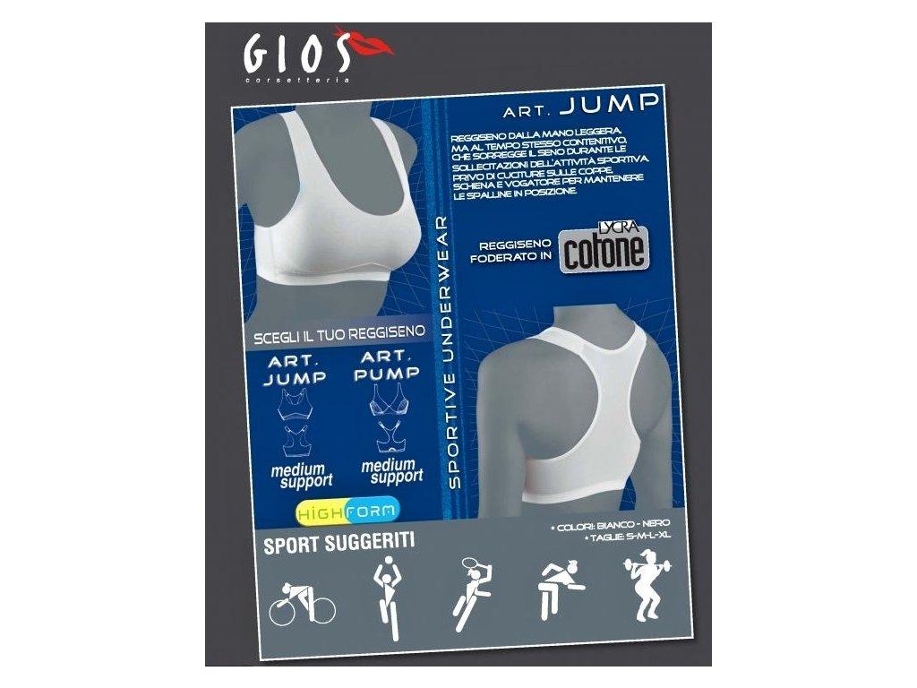 GIOS Jump dámská sportovní podprsenka (Barva černá, Velikost oblečení XL)