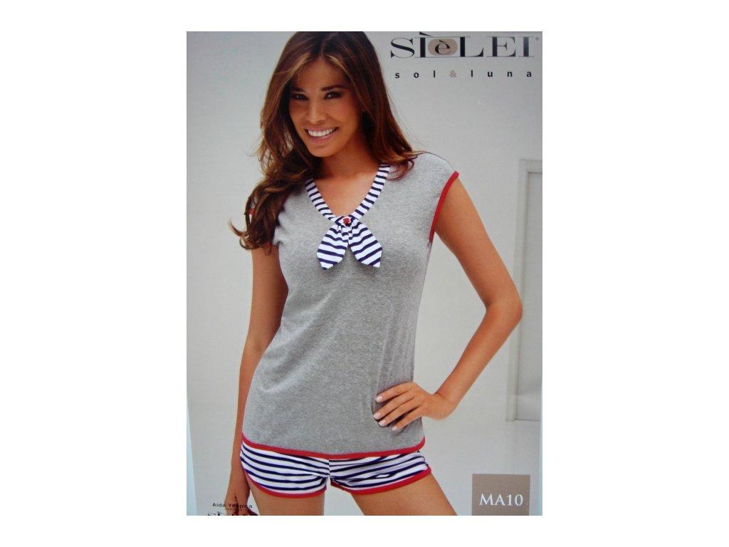 Sielei MA10 dámské pyžamo (Barva modrá, Velikost 2XL)