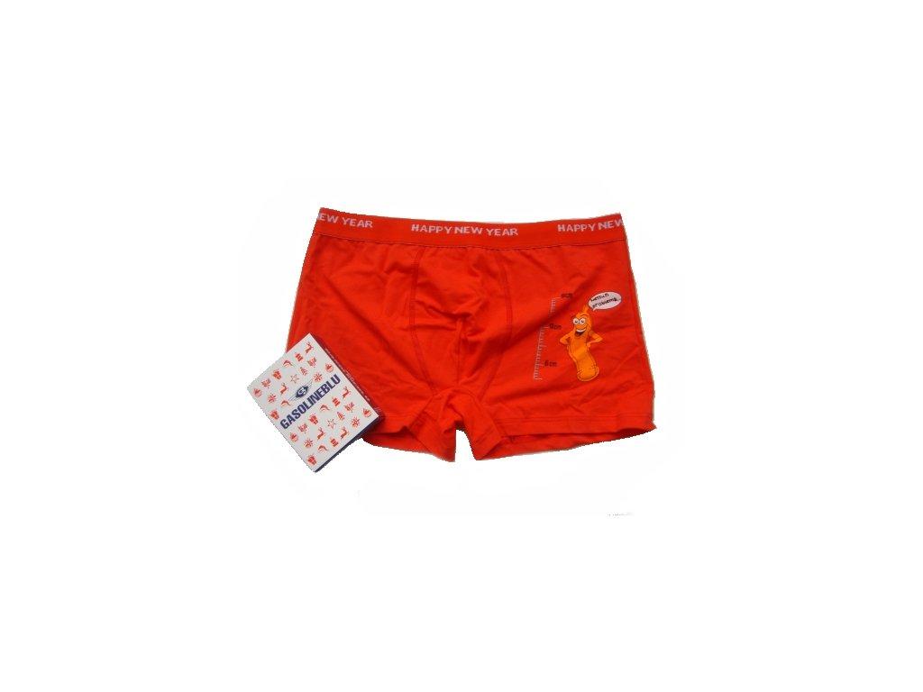 Gasoline Blu 886 pánské boxerky (Barva červená, Velikost oblečení XL)
