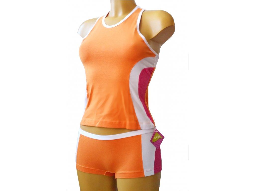 KEY nátělník dívčí 808TVSS (Barva oranžová, Velikost oblečení 13/14-158/164)