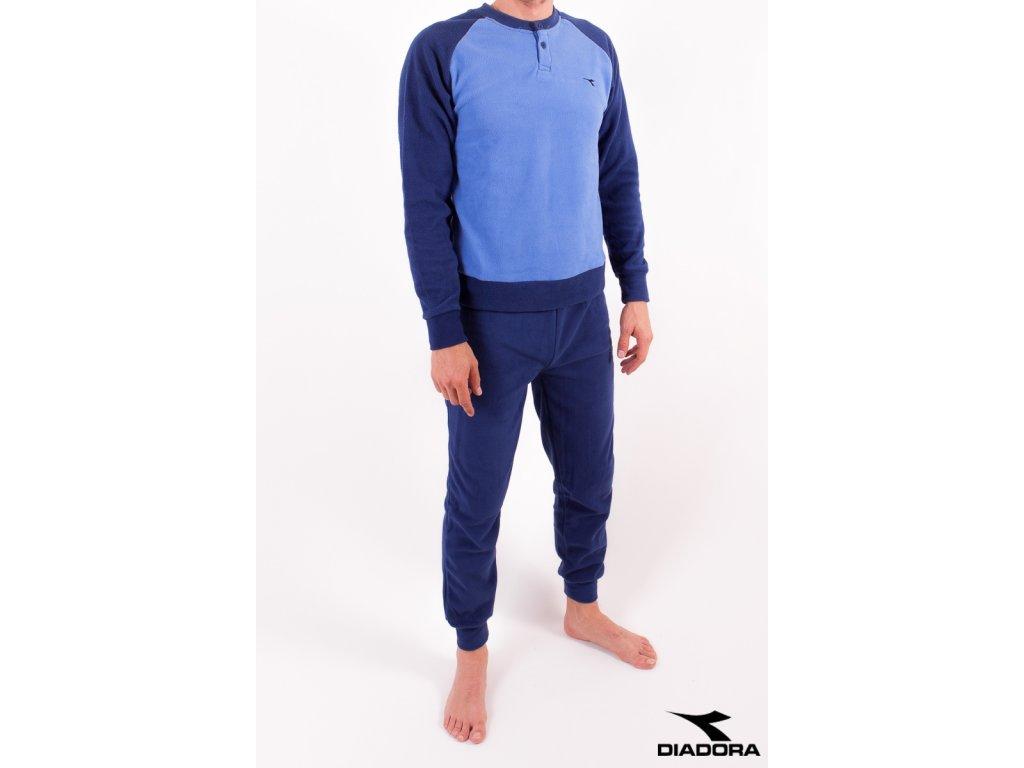 Diadora 60459 pánské pyžamo dlouhé (Barva modrá, Velikost oblečení M)