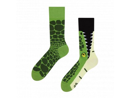 Good mood GMRS074 veselé ponožky krokodýl (Barva zelená, Velikost obleďż˝enďż˝ 43-46)
