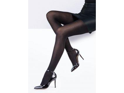 selma puncochove kalhoty cerne vzorovane