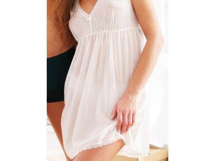 Agio DK-338 dámská noční košilka (Barva perleťová, Velikost oblečení XL)