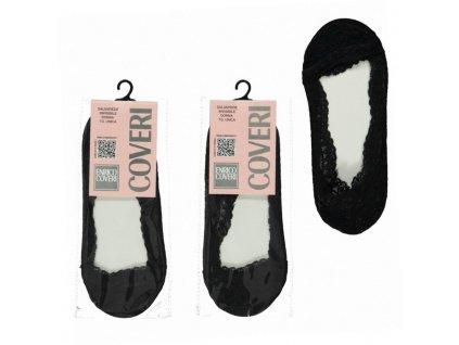Enrico coveri Penelope dámské krajkové ťapky (Barva černá, Velikost oblečení 35-40)