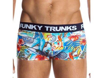 Funky Trunks Postcard Paradise pánské boxerky (Barva modrá světlá, Velikost oblečení XL)