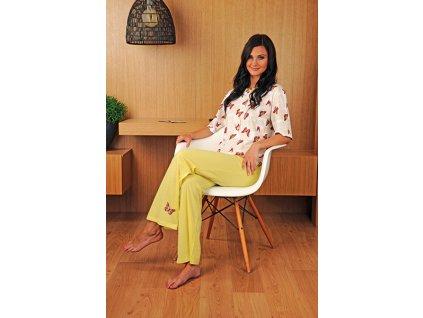 Andrie PS 9180 dámské pyžamo (Barva žlutá, Velikost oblečení XL)