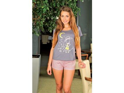 Andrie PS 9203 dámské pyžamo (Barva fialová, Velikost oblečení S)