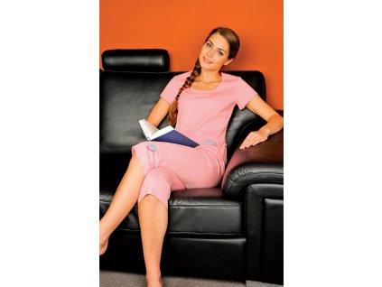 Andrie PS 9206 dámské pyžamo (Barva jahodová, Velikost oblečení XL)