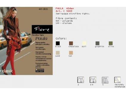 FIORE 5009 PAULA dámské punčochy (Barva zelená, Velikost oblečení L)