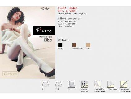 FIORE 5001 ELISA dámské punčochy (Barva černá, Velikost oblečení M)
