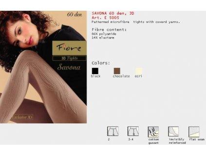 FIORE 5005 SAVONA dámské punčochy (Barva hnědá, Velikost oblečení M)