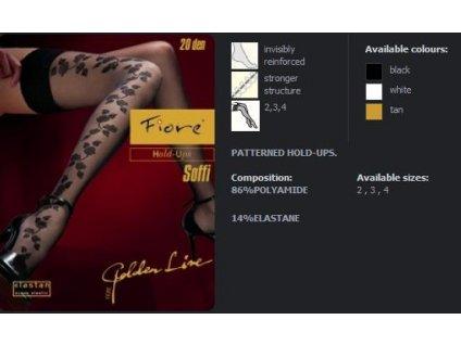 FIORE4007 SOFFI dámské punčochy (Barva černá, Velikost oblečení L)