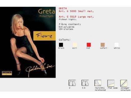 FIORE 5000 GRETA FISHNET dámské punčochy (Barva bílá, Velikost oblečení L)