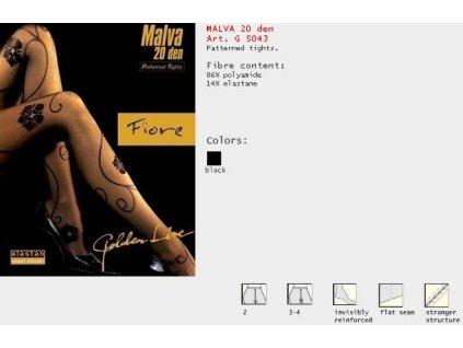 FIORE 5043 MALVA dámské punčochy (Barva černá, Velikost oblečení M)