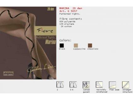 FIORE 5057 MARINA dámské punčochy (Barva hnědá, Velikost oblečení M)