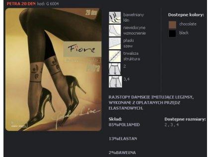 FIORE 6004 PETRA dámské punčochy (Barva hnědá, Velikost oblečení L)