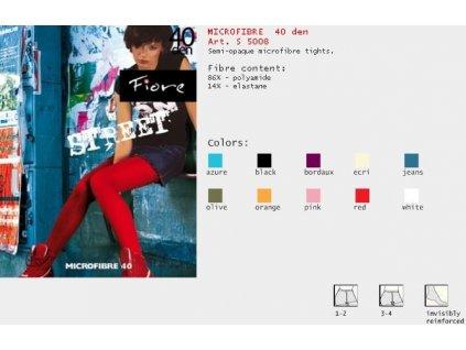 FIORE 5008 MICROFIBRE dámské punčochy (Barva červená, Velikost oblečení L)
