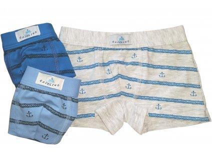 Gasolino 1829 chlapecké boxerky (Barva modrá tmavá, Velikost oblečení 9/10-134/140)