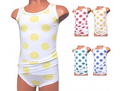 Emy Bimba 1076 dívčí kalhotky s košilkou (Barva zelená, Objem 9/10-134/140)