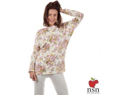 NSN 15039 dámské pyžamo (Barva smetanová, Velikost oblečení S)