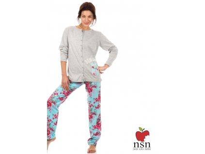NSN 15061 dámské pyžamo (Barva modrá, Velikost oblečení XL)