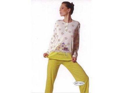 Ogham 18232 dámské pyžamo (Barva modrá, Velikost oblečení XL)